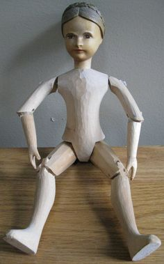 Vintage/Antique Wood Wooden Doll Poseable Moveable Arms Legs Head | eBay