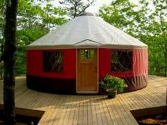 A yurt in three colo