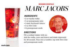 Fashion Designer Cocktail Recipes: Marc Jacobs