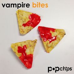 """fun and easy: make halloween """"vampire bites"""" using popchips"""