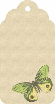 free printable~ butterfly tag