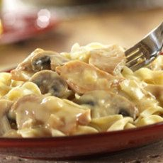 This great recipe is only 4 points. I added sliced mushrooms and diced green chilies. YUM!     http://www.food.com/recipe/weight-watchers-crock-pot-chicken-stroganoff-254682