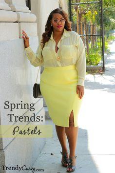 Plus Size Fashion | Spring Trends 2014: Pastels | www.TrendyCurvy.com