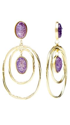 Twisted Double Oval Earring by Marcia Moran