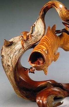 wood sculpture, wood crafts, woodcarv