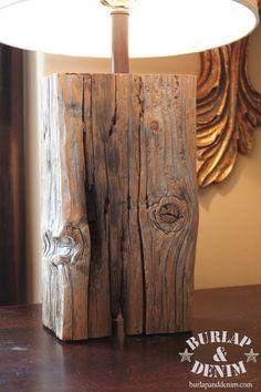Salvaged Wood Lamp