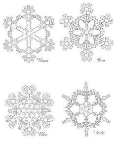 Crochet snowflake patterns