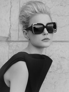 short hair, black white photography, frames, jessica stam, outlets, eyewear, shade, ray ban sunglasses, editorial fashion
