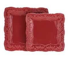 Temp-tations Vintage Grace Set of 2 Square Platters -- A perfect #hostess gift.