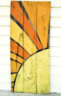 pallet turned beautiful art