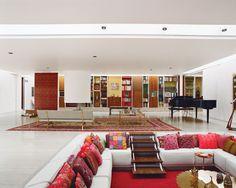 Eero Saarinen's legendary Miller House in Columbus, Indiana, was built for open-plan living. Photo by Leslie Williamson.