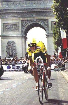 Greg LeMond wins Tour de France 1989