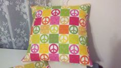 Peace Sign Pillow Covers 16 X16 by TotallySewAmazing for $30.00 #Zibbet