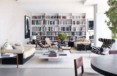 At Home in the Sky - Theory's Andrew Rosen and designer Jenny Dyer's 49th floor duplex nr Columbus Circle New York USA