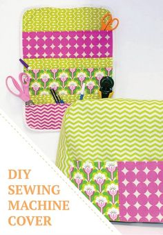 Protect your sewing machine from dust and dirt with this simple DIY sewing machine cover.