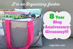 8 Year Blog Anniversary Giveaway via Org Junkie!!!