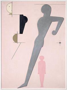 Oskar Schlemmer, Pink Composition, 1930