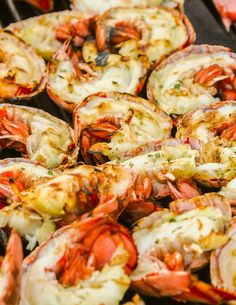 grilled lobster tails with nectarine-lime sauce. Oh yes....