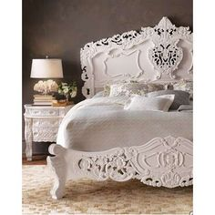 decor, bed frames, beds, headboards, bedroom furniture, rococo, white, bedrooms, dream bed