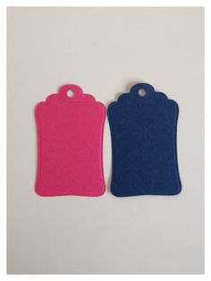 20 Blank Gift tags in Hot Pink and Navy - DIY! Great for weddings, birthdays, hen parties and other celebrations on Etsy, £1.95