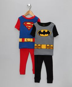 Superman and Batman PJs