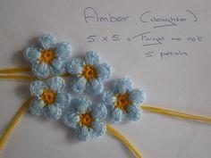 crochet forget me not. Tutorial ✿⊱╮Teresa Restegui http://www.pinterest.com/teretegui/✿⊱╮
