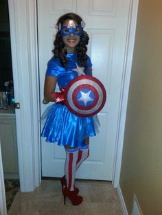 Homemade Captain America Costume Ideas---with modifications.....