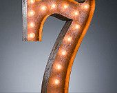 Vintage Marquee Lights - Number 7