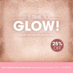It's YOUR time to #glow, My Loves! Order some of your most-loved Mally products in #rosegold and save 25% on mallybeauty.com! #MallyTrends