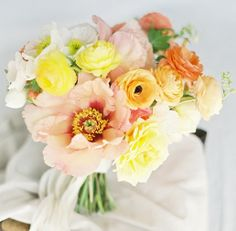 Yellows and pinks are great for spring wedding bouquets! #davidsbridal Enter the Style My Maids Sweeps for a chance to win a 500 dollar David's Bridal gift card: http://sweeps.piqora.com/stylemymaids  Ends 4/29/13 Rules: http://sweeps.piqora.com/contests/contest/content/davidsbridal.com/178/rules