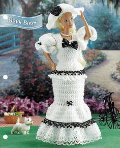 Black Bows Crochet Pattern Annies Fashion by grammysyarngarden, $2.00