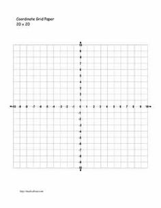 free template more 20 x 20 coordinate graph paper with numbers free ...