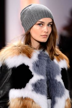 Cozy up with @Barbara Griffin MAX AZRIA Fall 2013 #MBFW