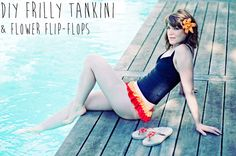 DIY frilly bikini bottoms