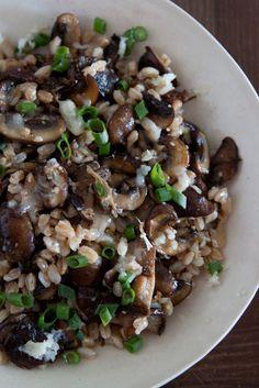 Mushroom, Farro and Fontina Salad