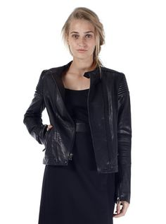Marc by Marc Jacobs Karlie Leather Moto Jacket