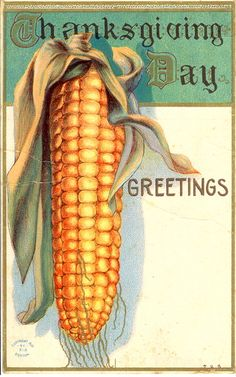 Vintage Thanksgiving Postcard by bulldoggrrl, via Flickr