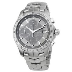 TAG Heuer Men's CJF2115.BA0594 Link Automatic Chronograph Grey Dial Watch by TAG Heuer @ TAG-Heuer-Watches .com