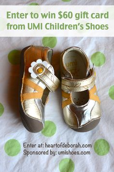 Buying Baby Shoes plus Umi Children's Shoes Giveaway - $60 retail value (ends 9/29) - Heart of Deborah #giveaway #baby
