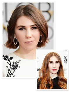 The perfect accessory to Zosia Mamet's Golden Globes gown? A new haircut, of course!