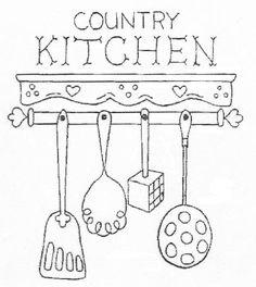 Artesanato e Cia: Riscos (moldes) para copa/cozinha ( patchcolagem)