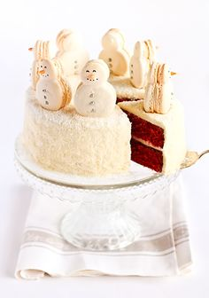 Red Velvet Snow Cake