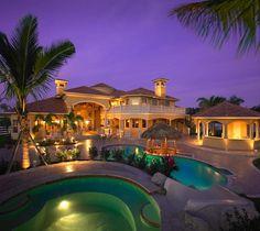 Exotic Pool in Sterling Ranch Estates by Landmark Custom Homes
