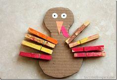 toddler,  turkey, fine motor play, Thanksgivng craft