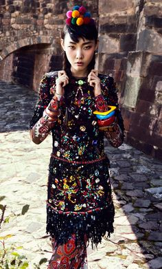 Vogue Korea in Peru #ethnic and #global #style