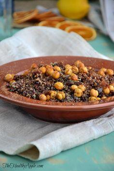 crunchy chickpea red quinoa {gluten-free, dairy-free, vegan}
