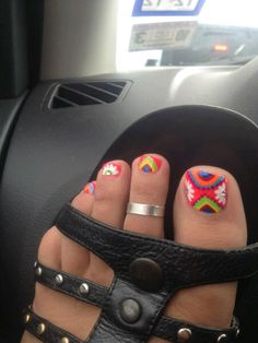 Summer Toes ~ Katie had this done for her senior prom