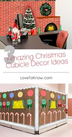 Many offices allow employees to decorate their cubicles for the holidays. Some companies even provide employees with various decorating supplies and hold contests for the best displays. Whether you want to go all out with a splashy theme or are just looking for a few Christmas touches, these projects will have your cubicle looking fun and festive for the holidays.