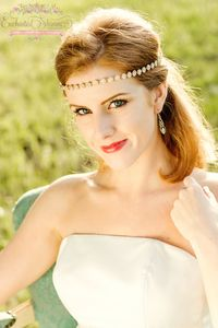 Enchanted Shimmer Designs Gold Rosebud Headpiece