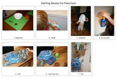 Example of DIY Visual schedule for mornings morning chart for preschoolers, idea, morning routines, morn routin, kid chore, preschool morn, discipline preschool, kid stuff, mornings